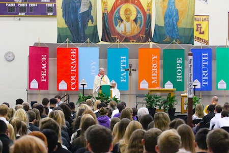 Fr. Pat Kennedy '69 Celebrates an All-School Mass