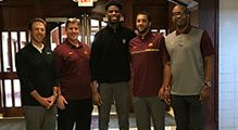 Gopher Men's Basketball Coaching Staff Makes On Campus Visit
