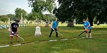 JROTC Maintains the Cemetery Markers for the Sisters and the Brothers