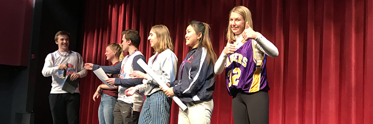 Seniors Max Rottjakob, Lily Pearson, Louis Rottjakob, Karissa Tschida, Mia Erickson, and Frannie Miller were on the Senior Class Gift committee.