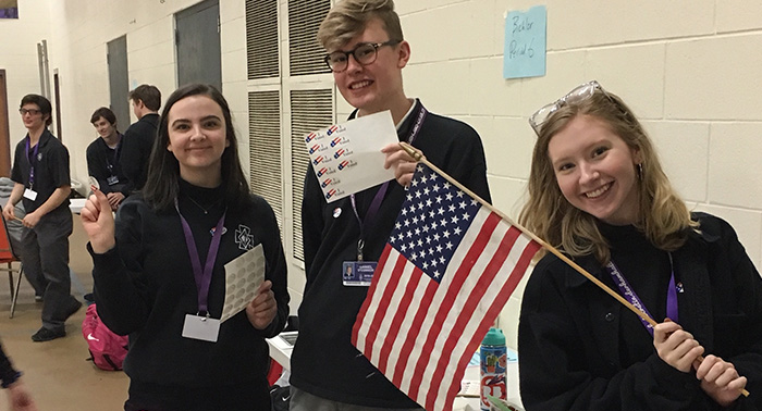 Students celebrate the spirit of Election Day!
